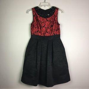 Eliza J Embellished Neckline Dress 6P